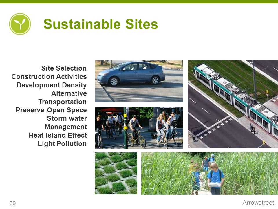 Sustainable Sites Site Selection Construction Activities