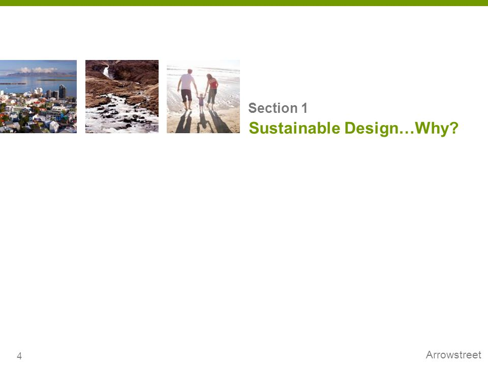 Sustainable Design…Why