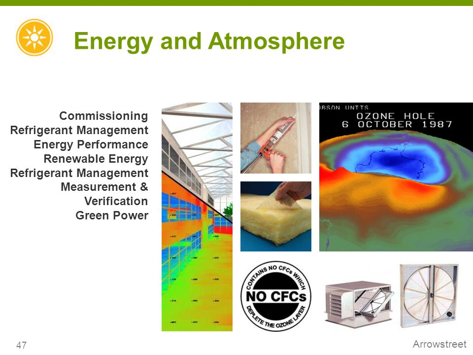 Energy and Atmosphere Commissioning Refrigerant Management