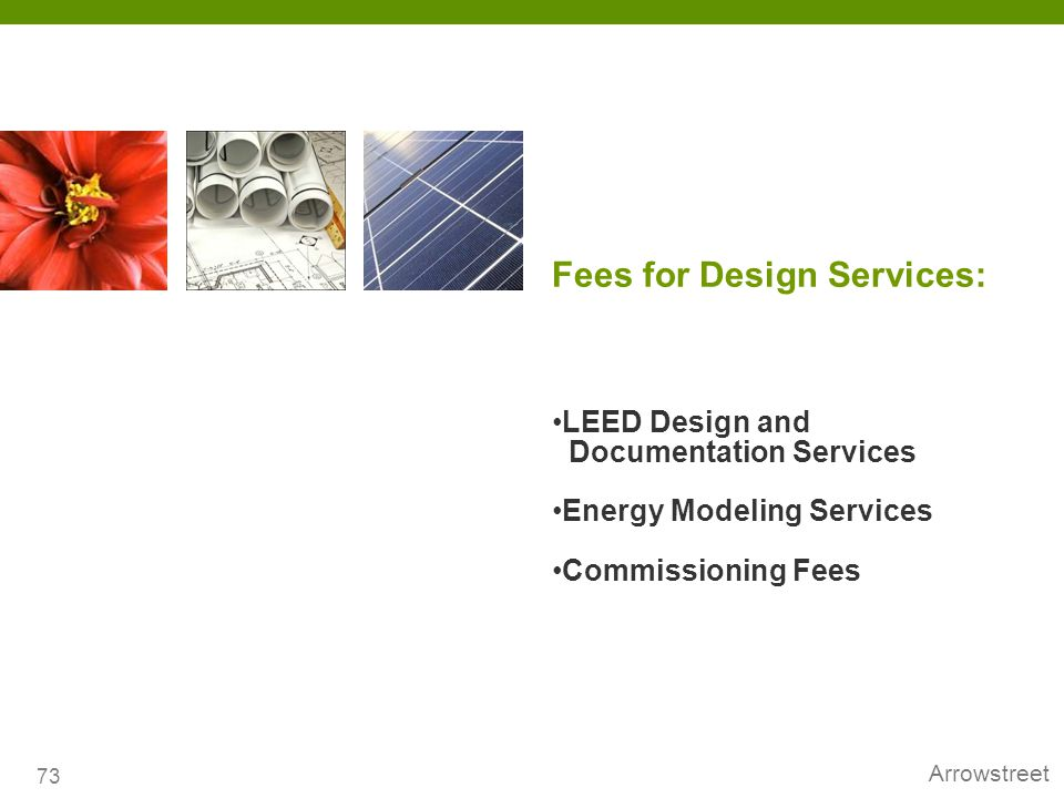 Fees for Design Services:
