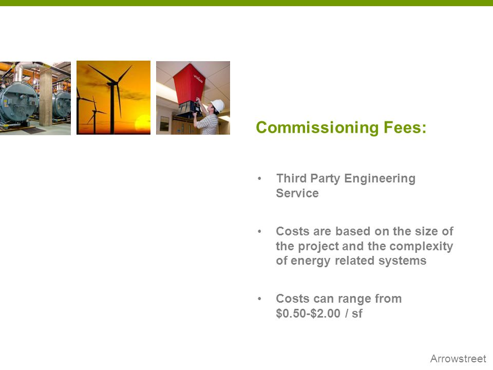 Commissioning Fees: Third Party Engineering Service