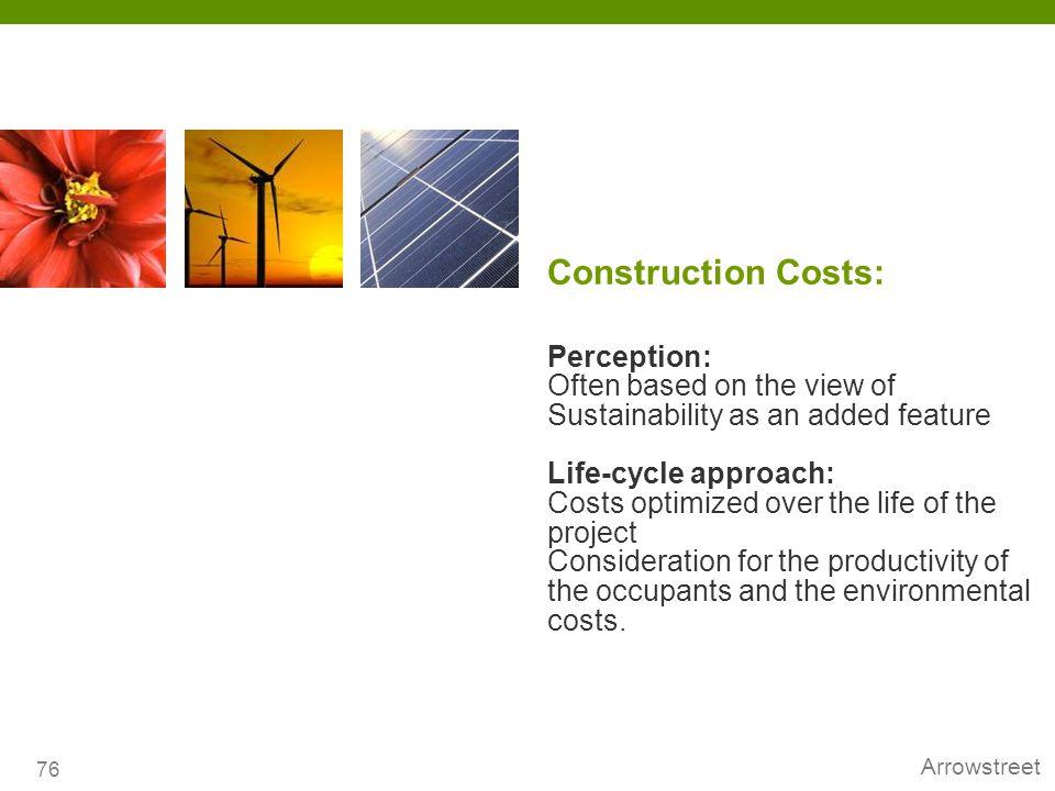 Construction Costs: Perception: