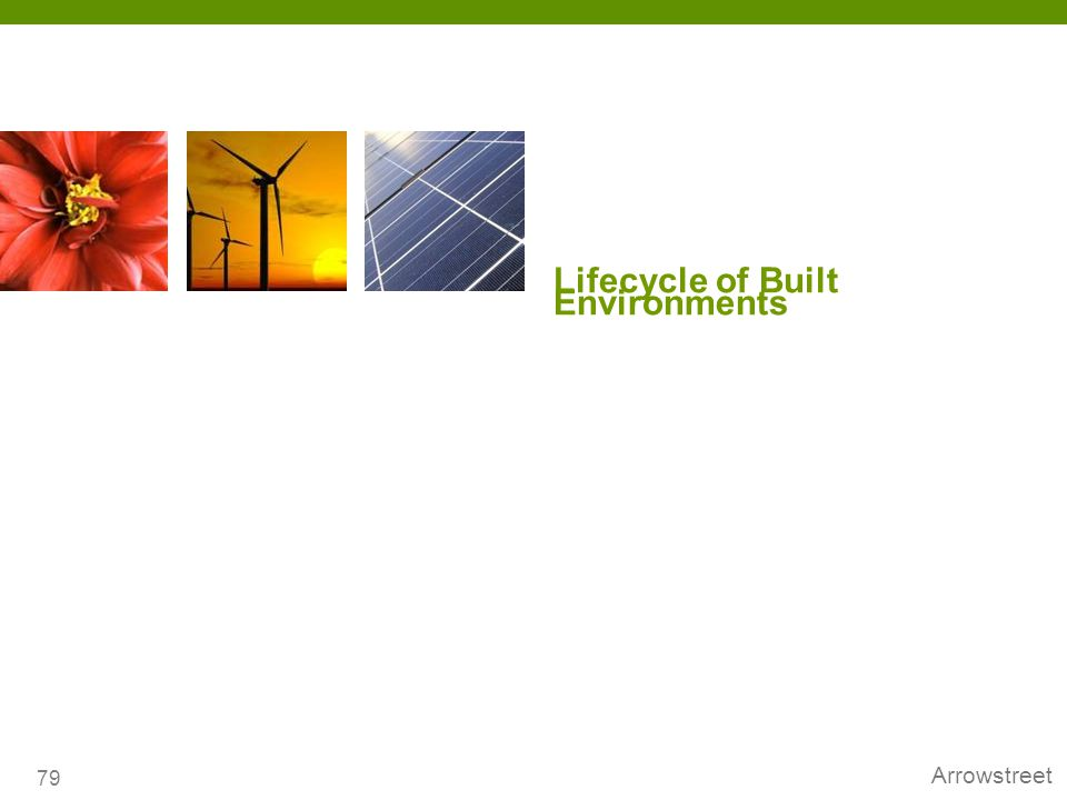 Lifecycle of Built Environments