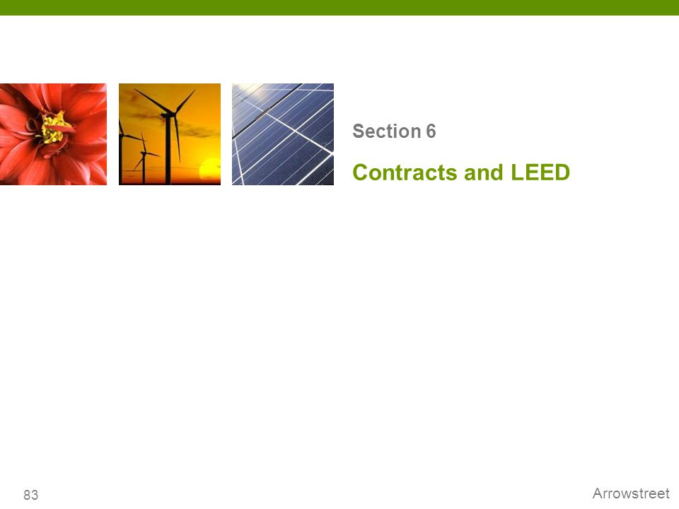 Section 6 Contracts and LEED 83