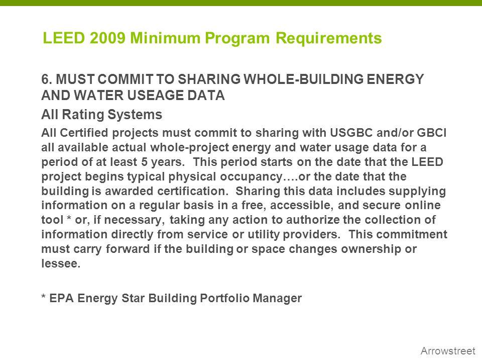 LEED 2009 Minimum Program Requirements