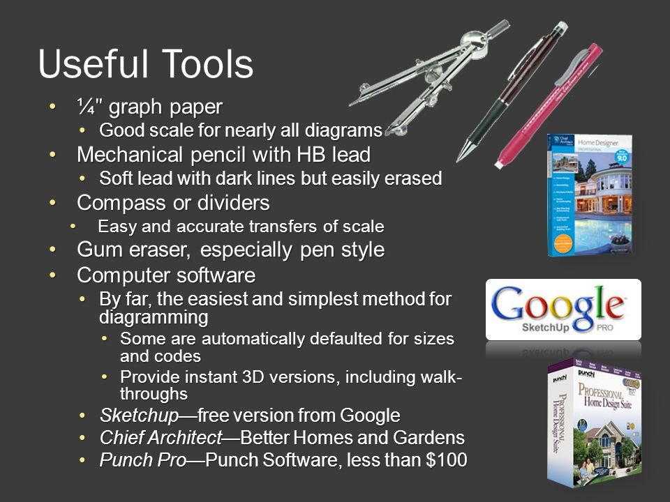 Useful Tools ¼ʺ graph paper Mechanical pencil with HB lead