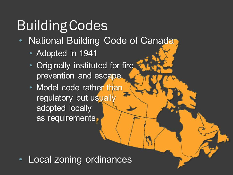 Building Codes National Building Code of Canada