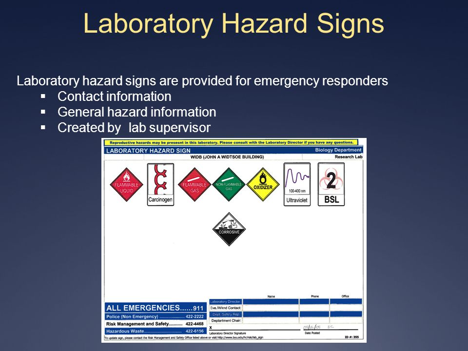 Laboratory Hazard Signs