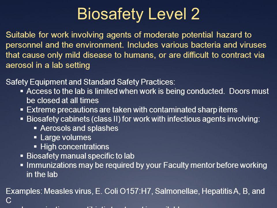 4/1/2017 Biosafety Level 2.