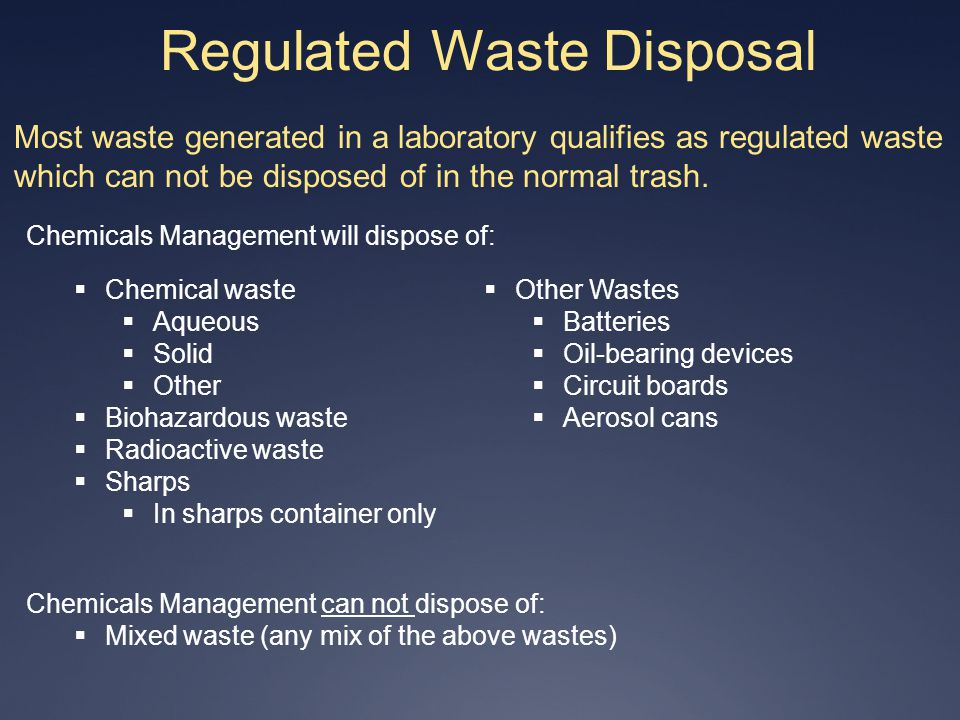 Regulated Waste Disposal