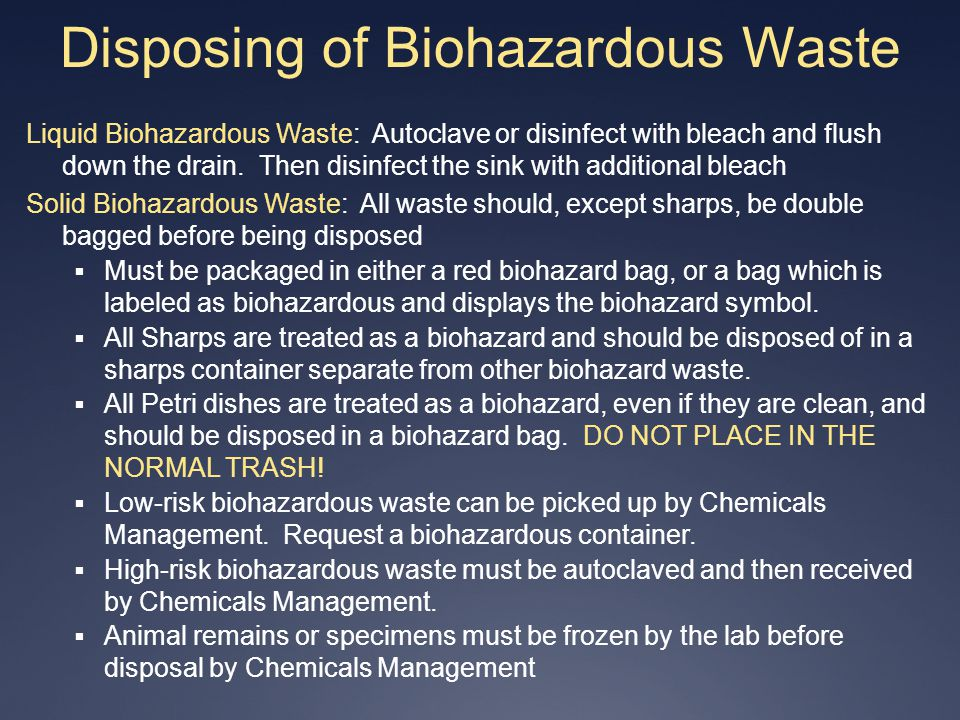 Disposing of Biohazardous Waste