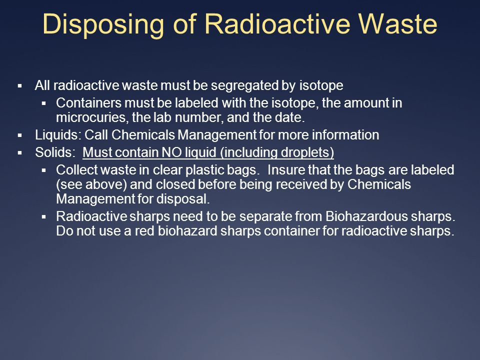 Disposing of Radioactive Waste