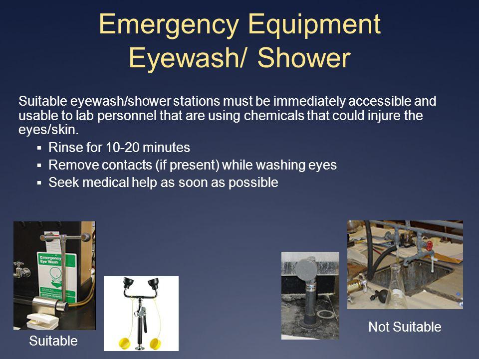 Emergency Equipment Eyewash/ Shower