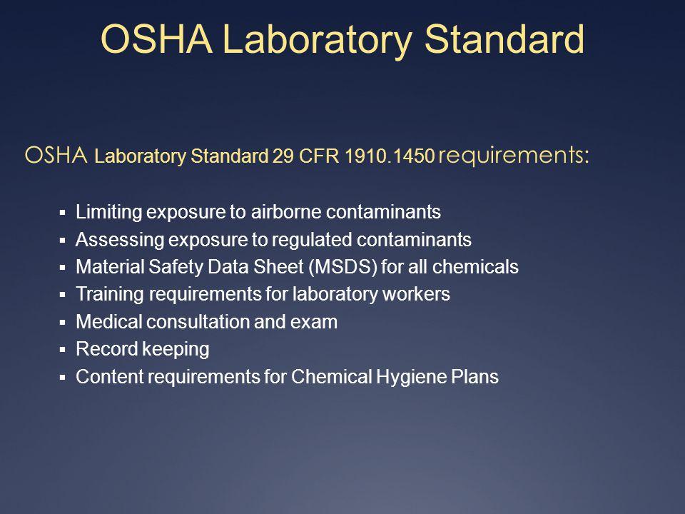 OSHA Laboratory Standard