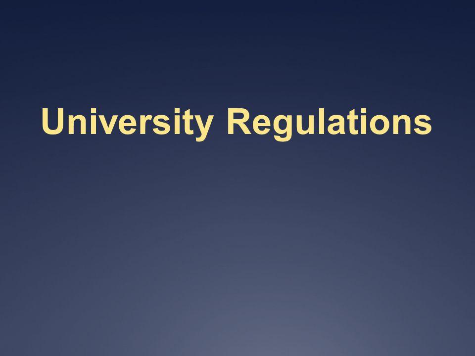 University Regulations