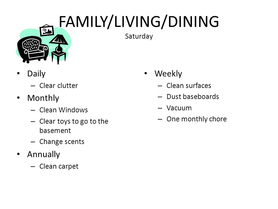 FAMILY/LIVING/DINING Saturday