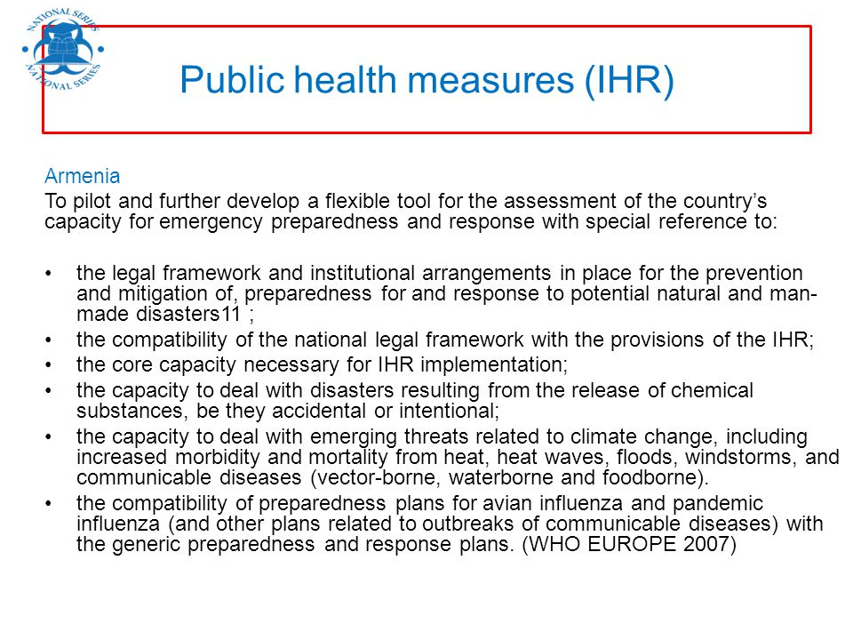 Public health measures (IHR)