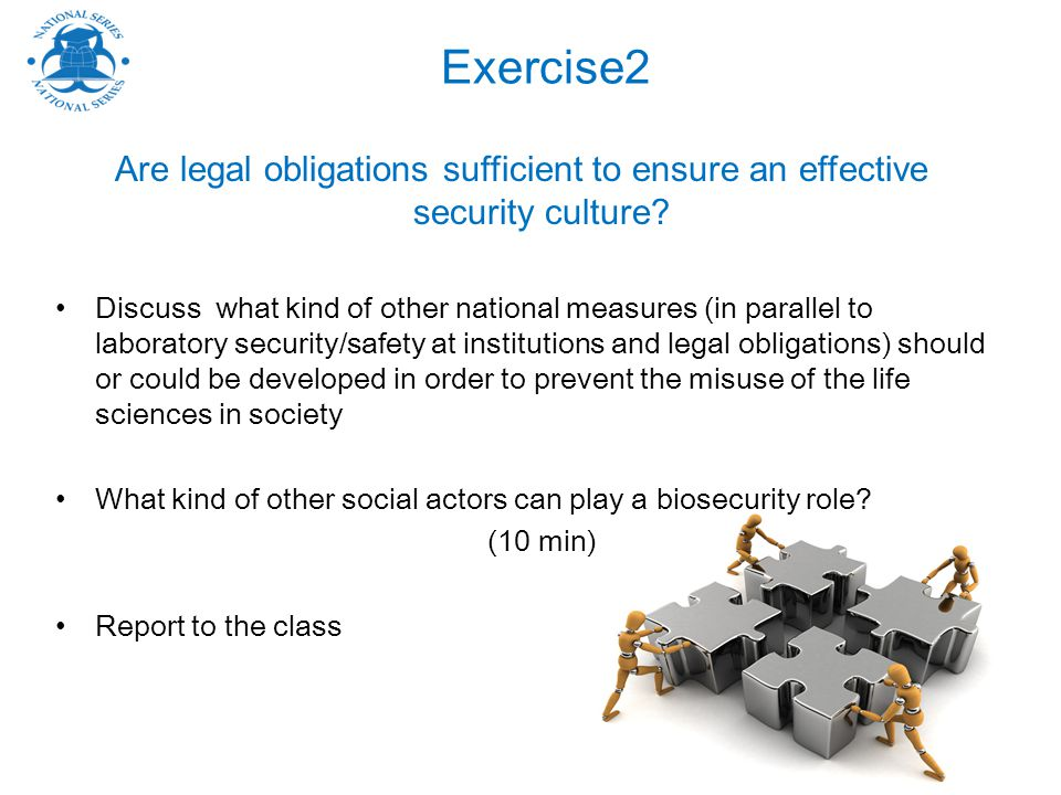 Exercise2 Are legal obligations sufficient to ensure an effective security culture