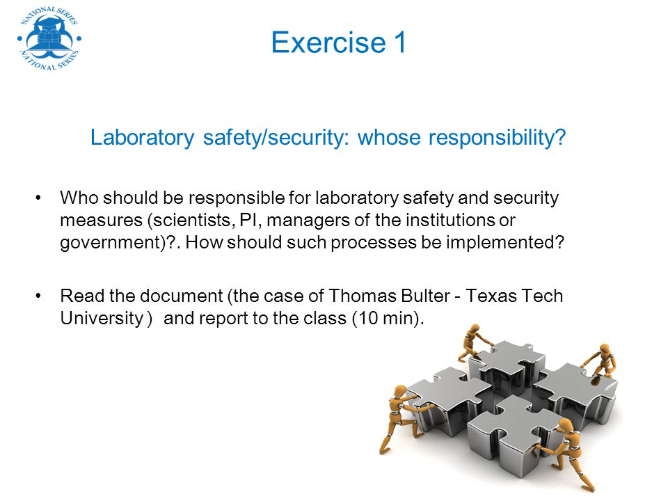 Laboratory safety/security: whose responsibility