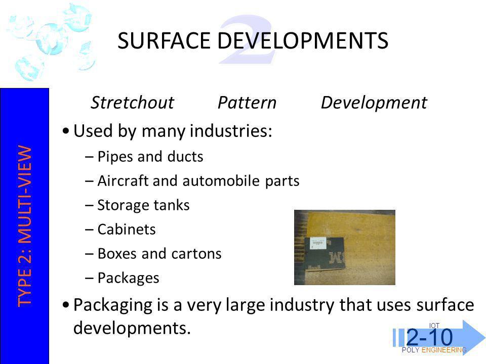 SURFACE DEVELOPMENTS 2-10 2 Stretchout Pattern Development