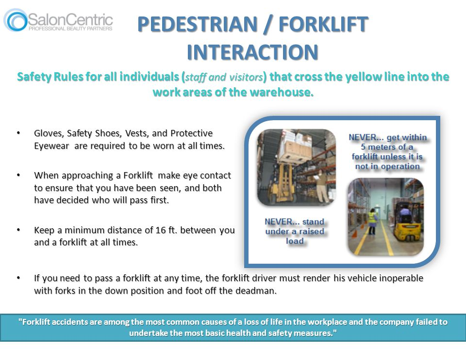 PEDESTRIAN / FORKLIFT INTERACTION