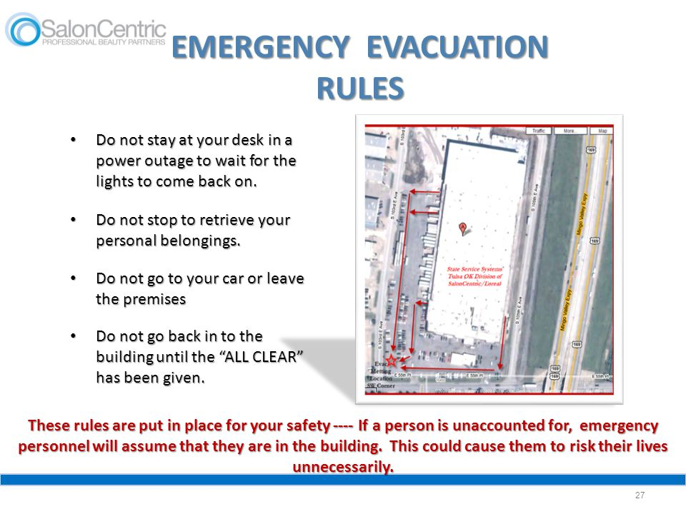 EMERGENCY EVACUATION RULES