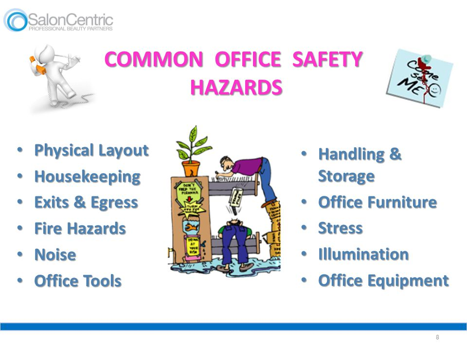 COMMON OFFICE SAFETY HAZARDS