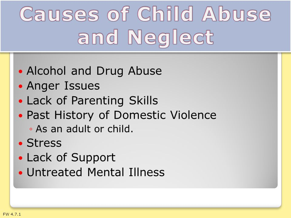 Causes of Child Abuse and Neglect