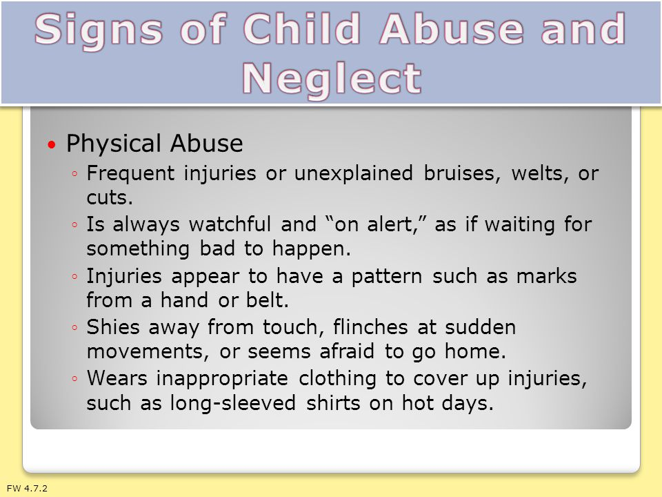 Signs of Child Abuse and Neglect