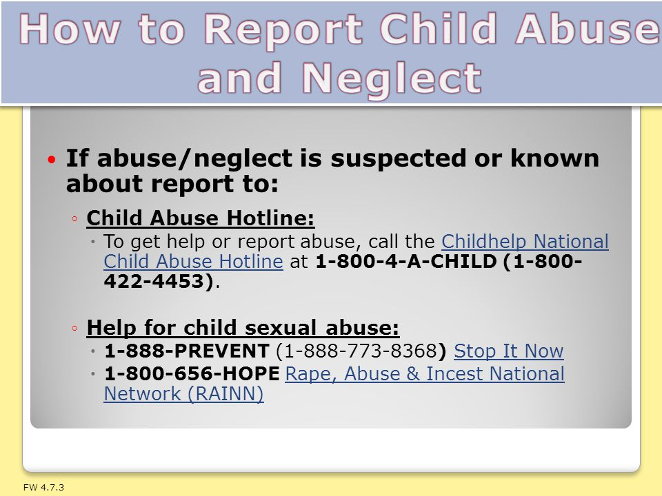 How to Report Child Abuse and Neglect