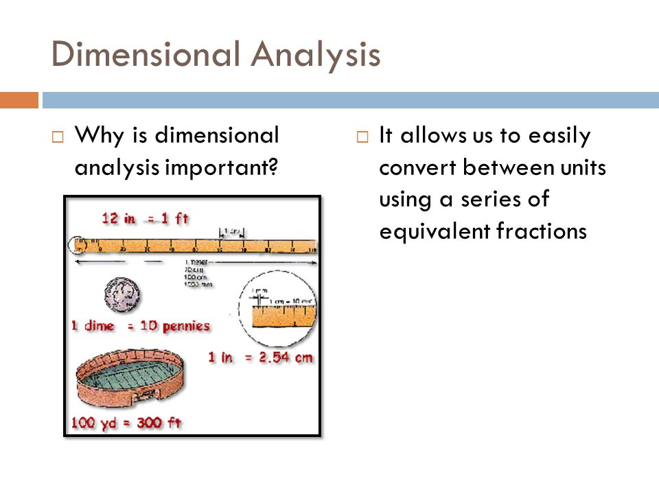 Dimensional Analysis Why is dimensional analysis important