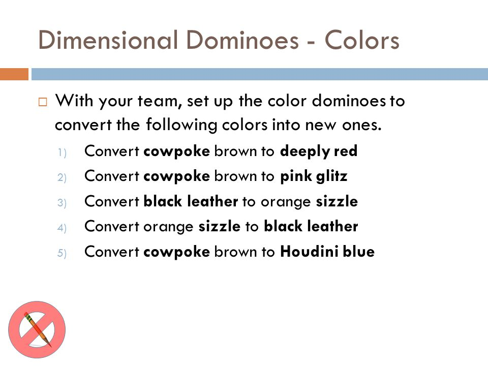 Dimensional Dominoes - Colors