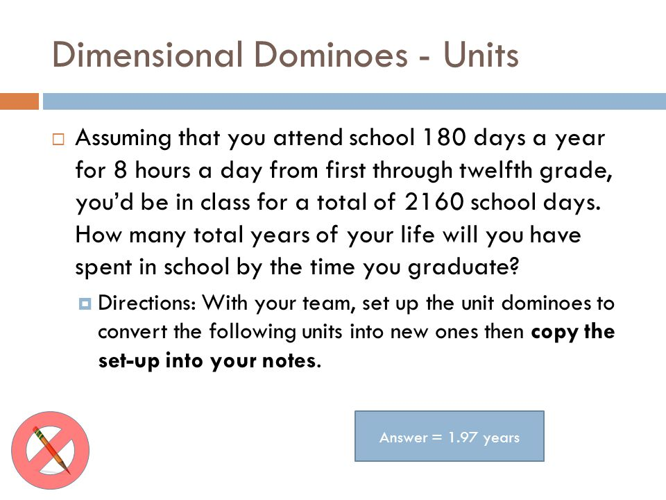 Dimensional Dominoes - Units
