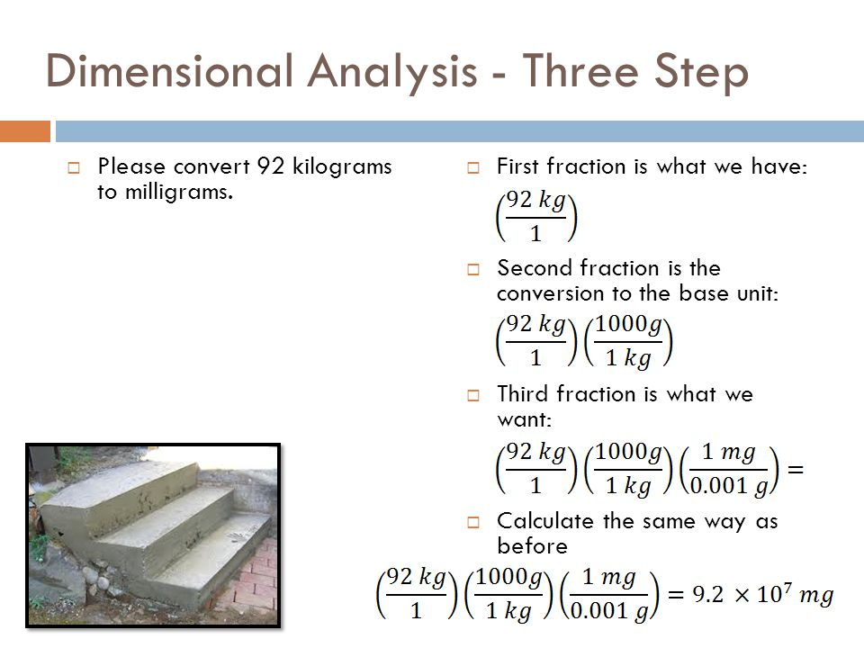 Dimensional Analysis - Three Step