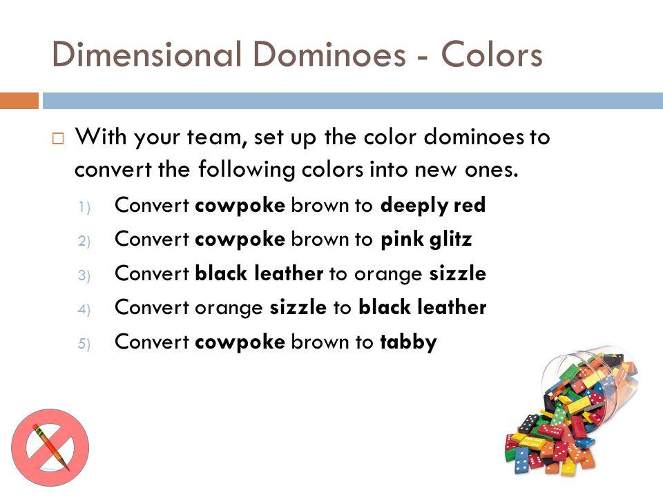 Dimensional Dominoes - Colors