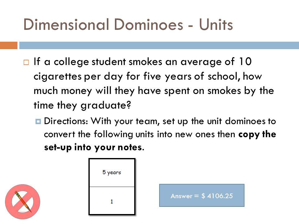 Dimensional Dominoes - Units