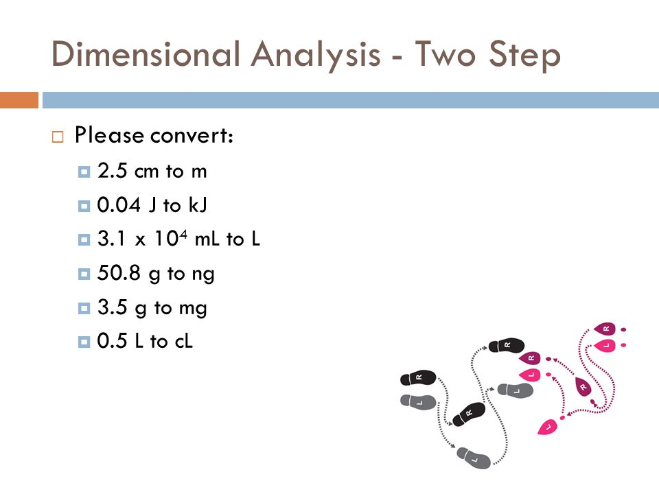 Dimensional Analysis - Two Step
