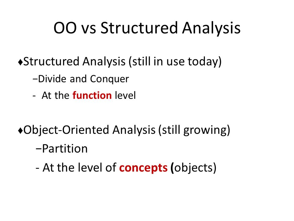 OO vs Structured Analysis