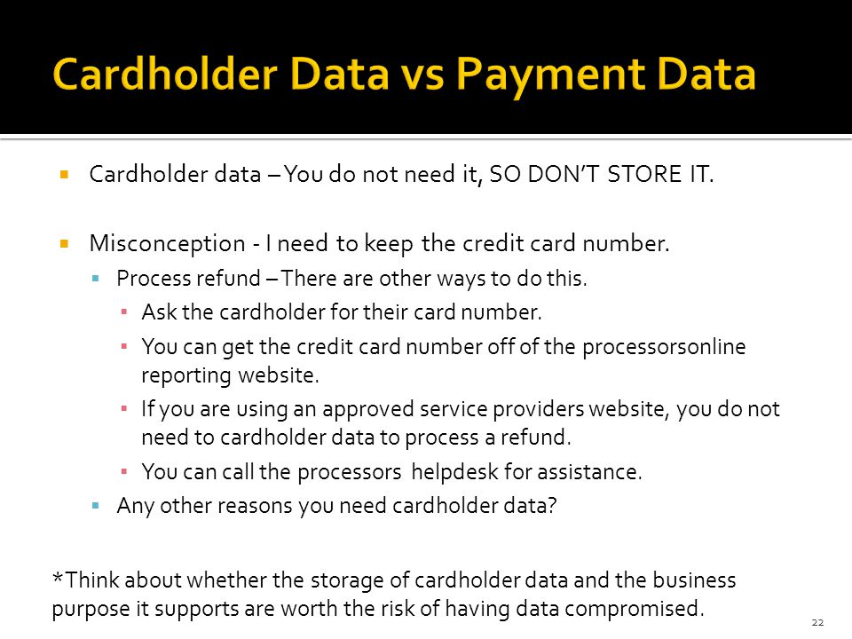 Cardholder Data vs Payment Data