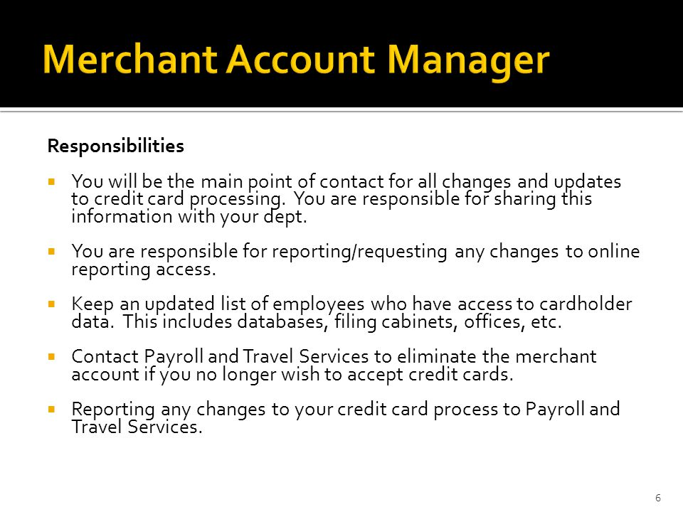 Agenda Merchant Account Manager PCI DSS – What is it