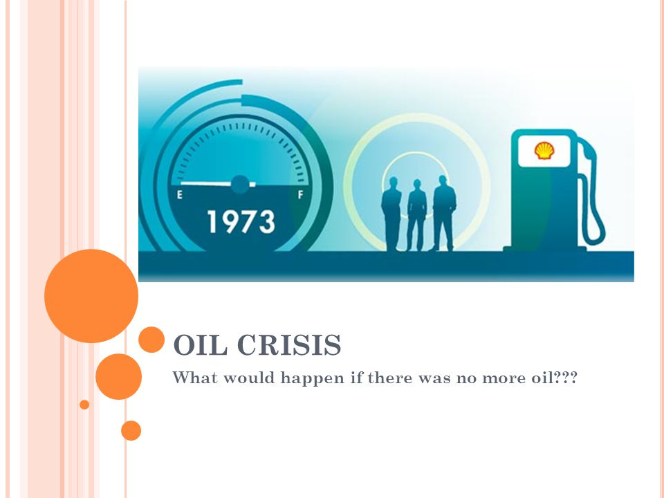 What would happen if there was no more oil