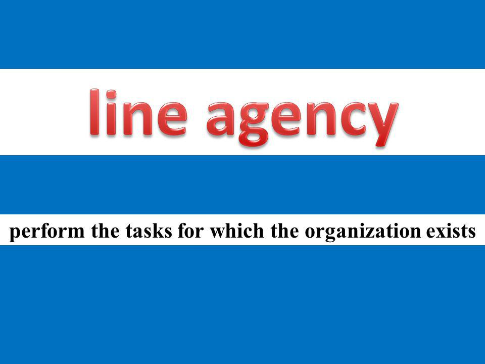 perform the tasks for which the organization exists