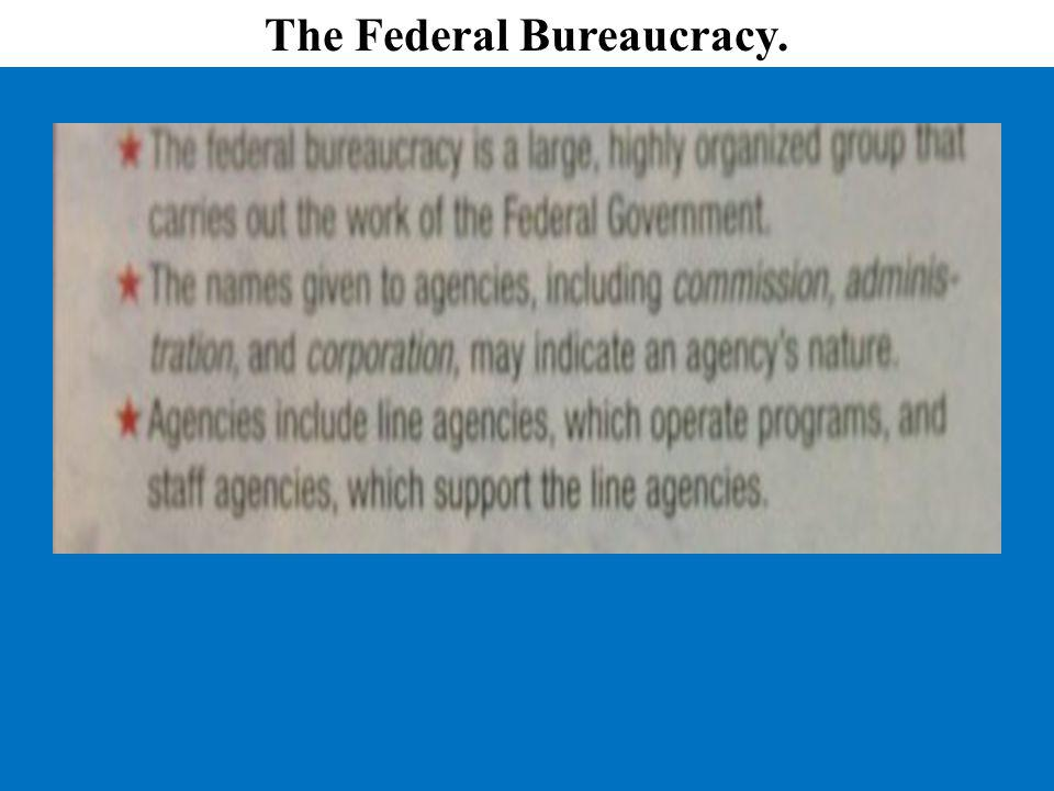 The Federal Bureaucracy.