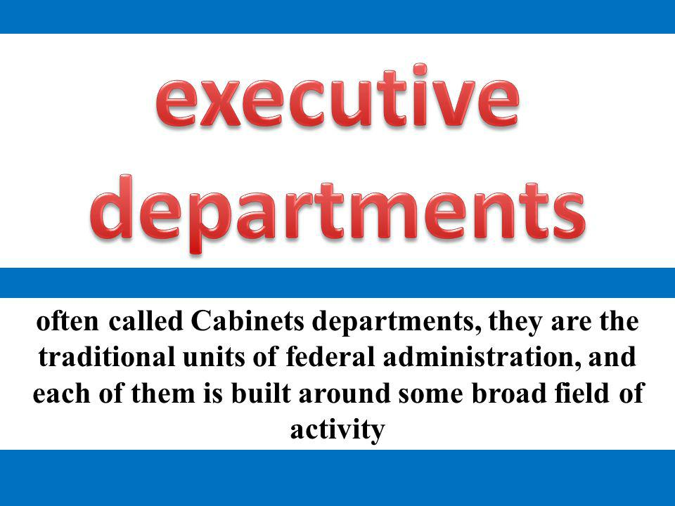 executive departments