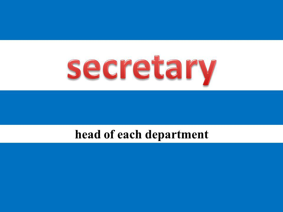 head of each department