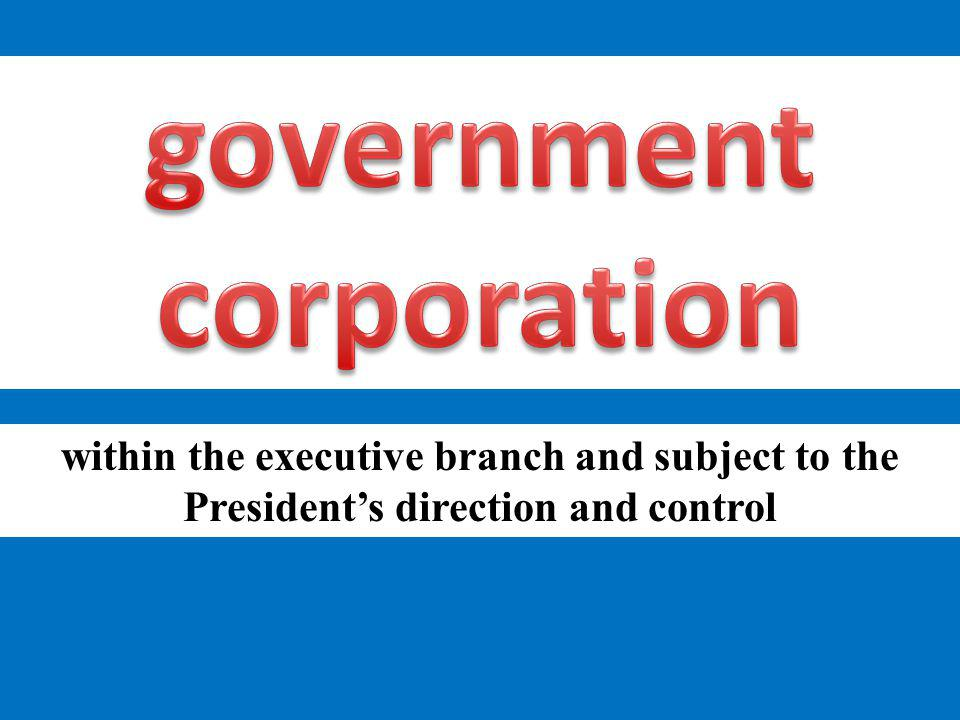 government corporation