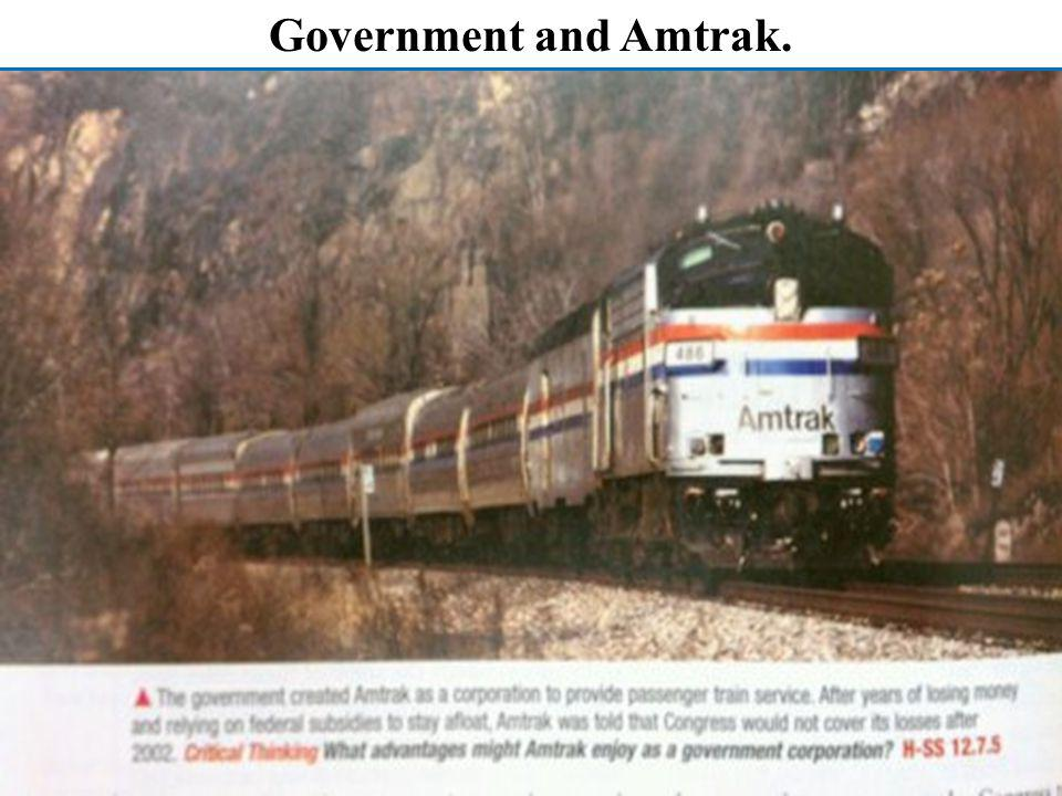Government and Amtrak.