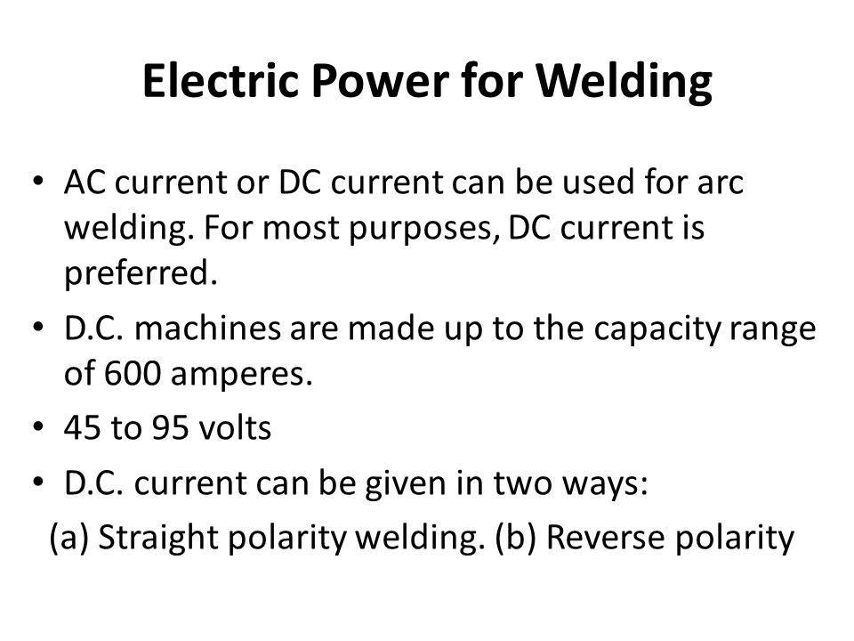 Electric Power for Welding