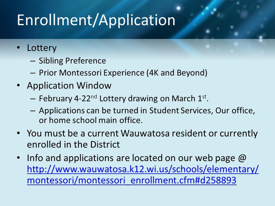 Enrollment/Application