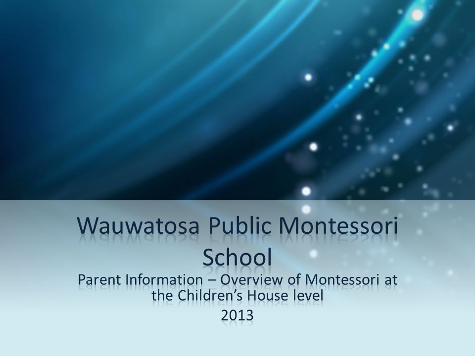 Wauwatosa Public Montessori School